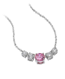 Pink & White Cubic Zirconia Necklace