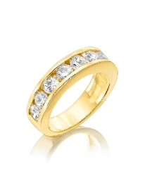 Gold-Plated Cubic Zirconia Band Ring