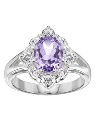 Silver-Plated Amethyst Ring