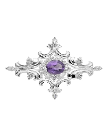 Oval Amethyst Pin