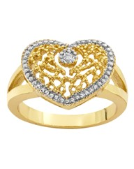 Diamond Accent Heart-Shaped Ring