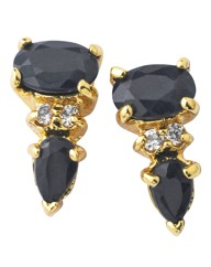 Gold-Plated Sapphire Earrings