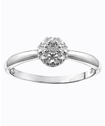 Silver-Plated Diamond Accent Ring