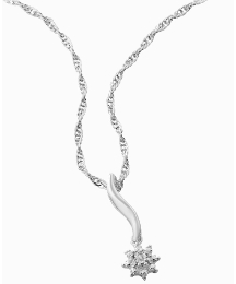 Silver-Plated Diamond Accent Pendant