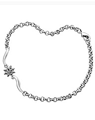 Silver-Plated Diamond Cluster Bracelet