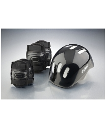 Helmet and Pad Set - Black