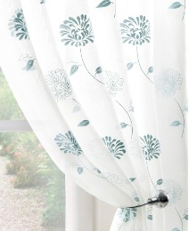 Carnation Curtain Range Voile Panel