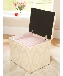 Damask Storage Stool
