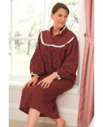 Brush Cotton Tartan Nightdshirt