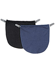 Modesty Panel Pack of 2 Navy/Black