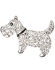 Diamante Scottie Dog Brooch