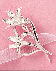 Silver Plated Lily Brooch