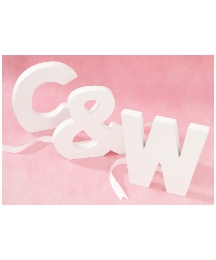 White Painted Signature Letters 10in