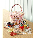 Cupcake Sewing Tub and Large Sewing Pack