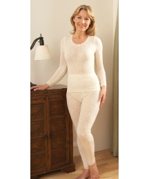 Wool Blend Thermals Long Sleeve Top