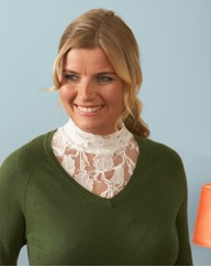 Stretch Lace Turtleneck Dickeys Pack 2