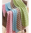 Polka Dot Fleece Blanket Pack of 2
