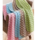 Polka Dot Fleece Blanket BOGOF