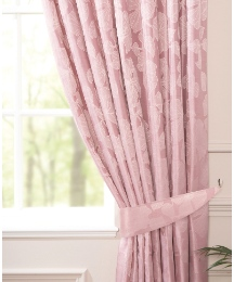 Olivia Floral Faux Silk Range Curtains