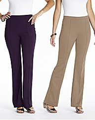 Pack of 2 Trousers Length 25in