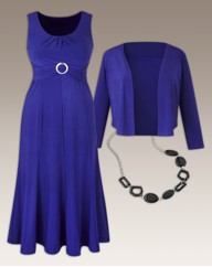 Plain Dress and Shrug Set 45in
