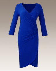 Mock Wrap Dress Plain Length 45in