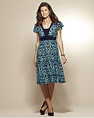 Print Jersey Dress Length 41in