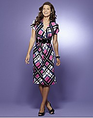 Print Dress with Belt Length 41in