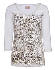 Top to Toe Print Jersey Top