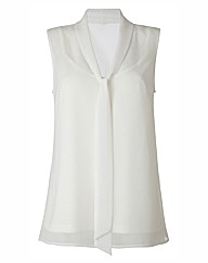 Sleeveless Longline Blouse