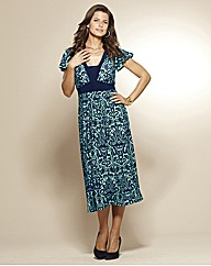 Print Jersey Dress Length 45in