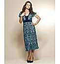 Print Jersey Dress Length 45in