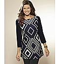 Print Jersey Tunic Length 29in