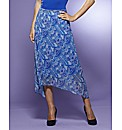 Petite Print Skirt Length 25in