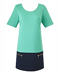 Petite Colour Block Tunic