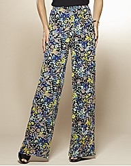 Print Wide Leg Trousers 29in