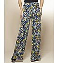 Print Wide Leg Trousers 27in