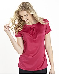 Satin Pleat Detail Blouse