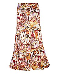 Top to Toe Print Maxi Skirt 35in