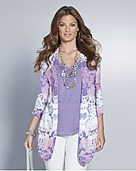 Petite Top to Toe Printed Cardigan
