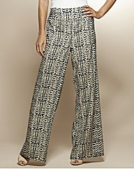Print Wide Leg Trousers 31in