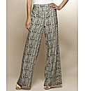 Petite Print Wide Leg Trousers 25in
