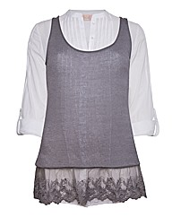 Top to Toe Lace Trim Knitted Vest