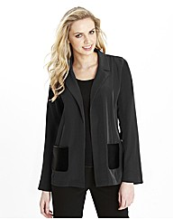 Soft PU Pocket Jacket