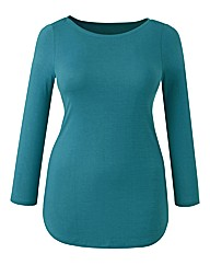 Plain Boatneck Jersey Top