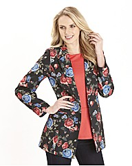 Petite Print Tailored Jacket