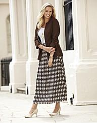 Print Maxi Skirt 35in