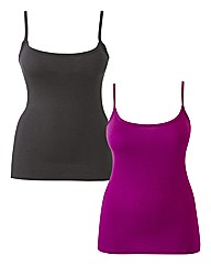 Pack of Two Jersey Vests 27in