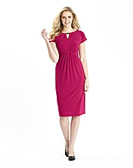 Essential Jersey Dress with Keyhole Neck