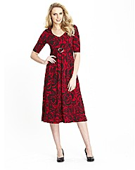 Print Buckle Trim Dress 45in